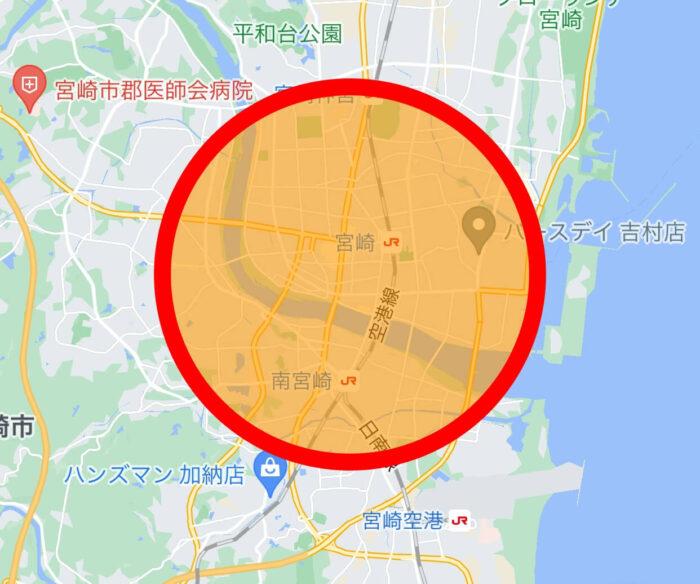 Woltウォルト宮崎エリアマップ