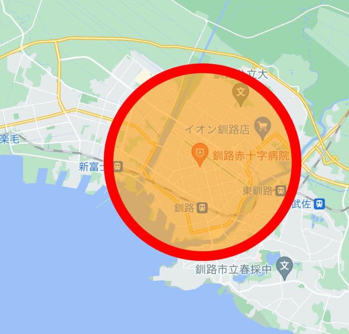 Woltウォルト釧路エリアマップ